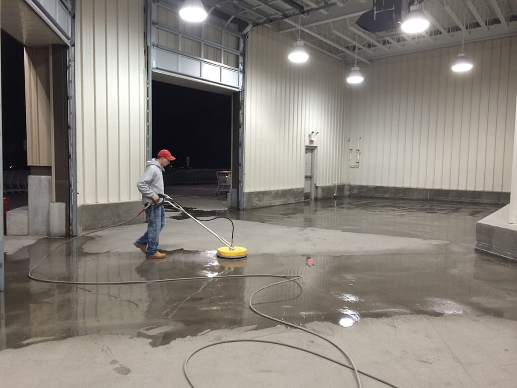 Commercial Services Concrete Surface Cleaning