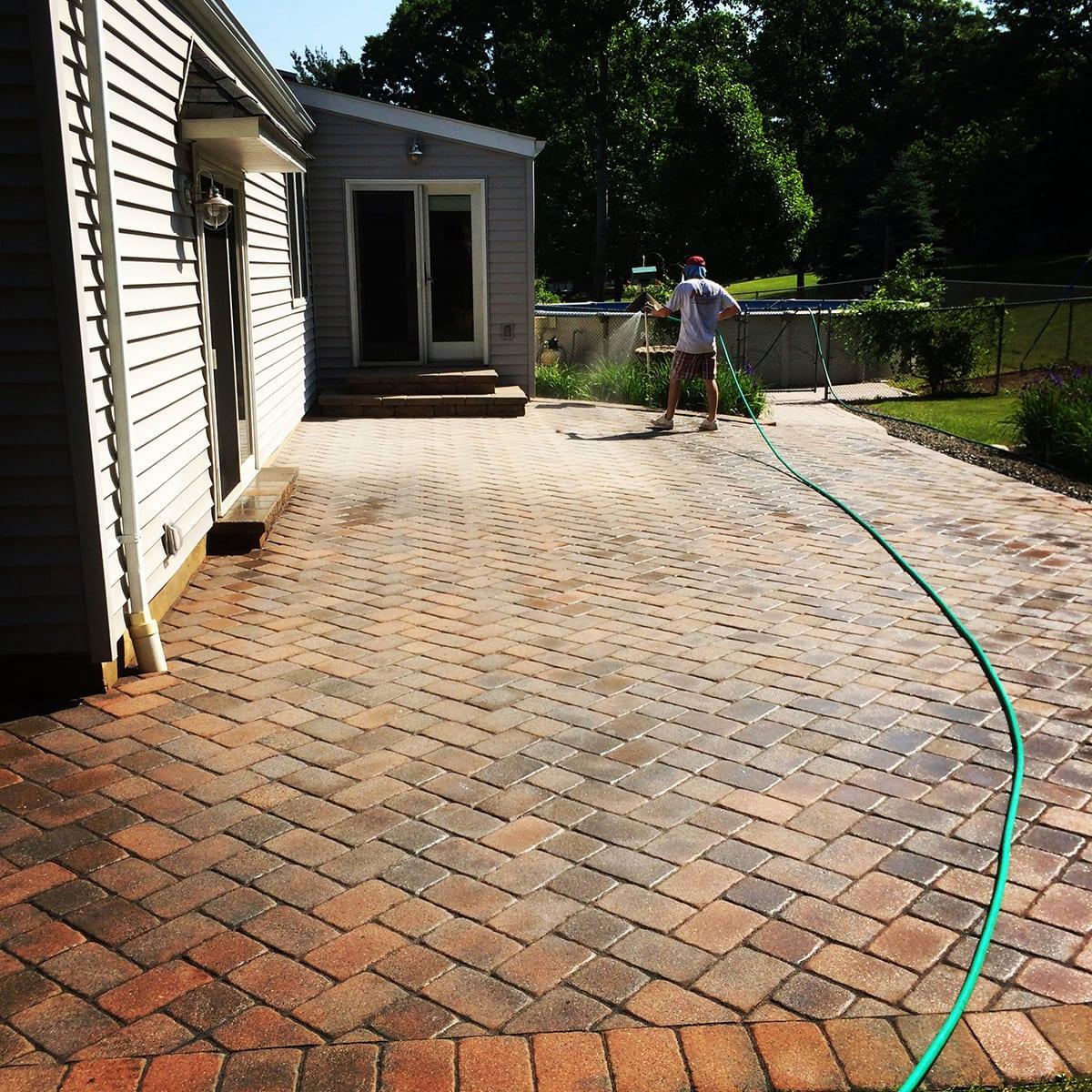 Brick Paver Cleaning Resanding