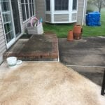 Rear Patio Cleaning Before