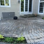 Before Cleaning and resanding joints with polymeric sand.