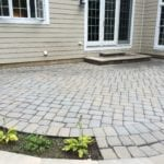 After Cleaning and resanding joints with polymeric sand.
