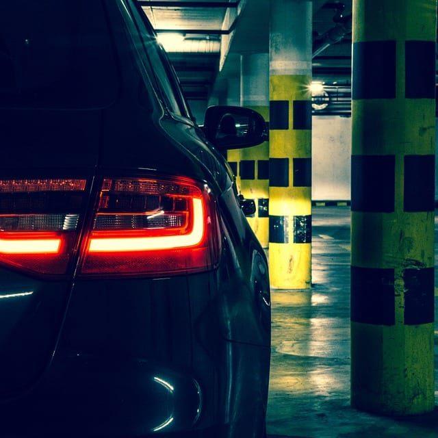 Car in parking deck